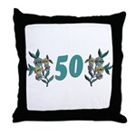 50th Birthday Gifts, Throw Pillow