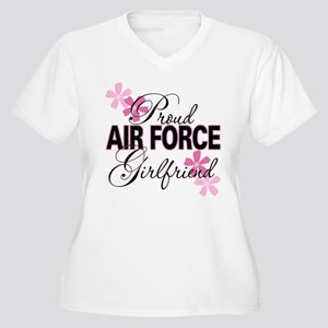 Proud Air Force Girlfriend Women's Plus Size V-Nec