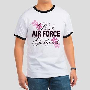 Proud Air Force Girlfriend Ringer T