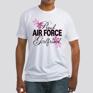 Proud Air Force Girlfriend Fitted T-Shirt