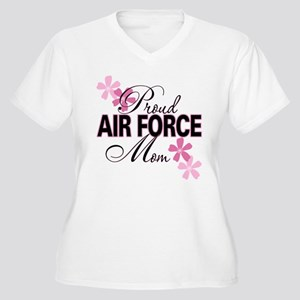 Proud Air Force Mom Women's Plus Size V-Neck T-Shi