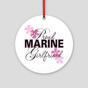 Proud Marine Girlfriend Ornament (Round)