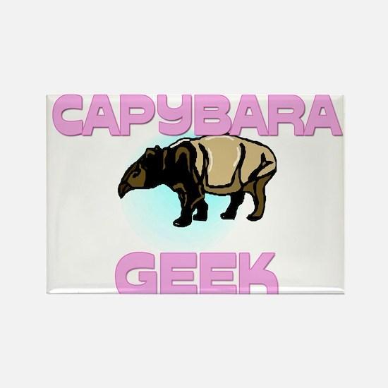 Capybara Geek Rectangle Magnet