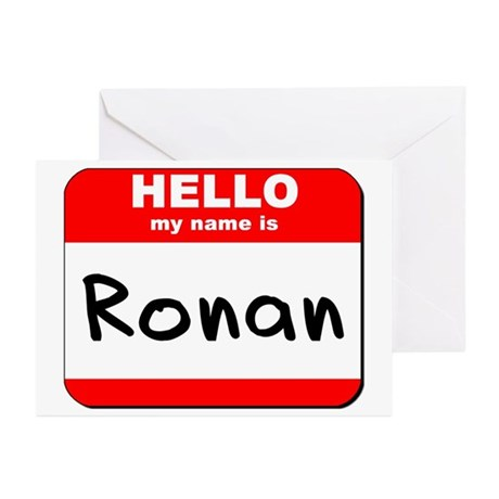Hello my name is Ronan Greeting Cards (Pk of 20)