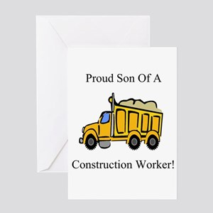 Proud Son Of A Constrution Wo Greeting Card