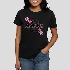 Proud Marine Mom Women's Dark T-Shirt
