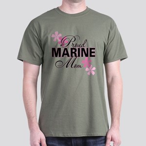 Proud Marine Mom Dark T-Shirt