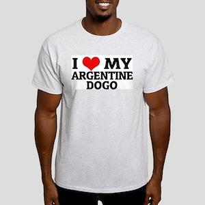 I Love My Argentine Dogo Ash Grey T-Shirt
