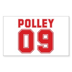 POLLEY 09 Rectangle Sticker 50 pk)