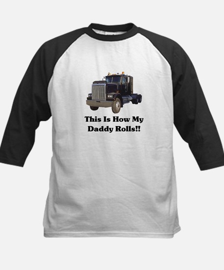Semi Truck This Is How My Dad Kids Baseball Jersey