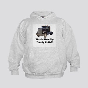 Semi Truck This Is How My Dad Kids Hoodie