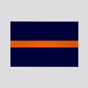 Auburn Thin Orange Line Rectangle Magnet