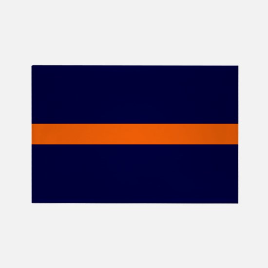 Auburn Thin Orange Line Rectangle Magnet
