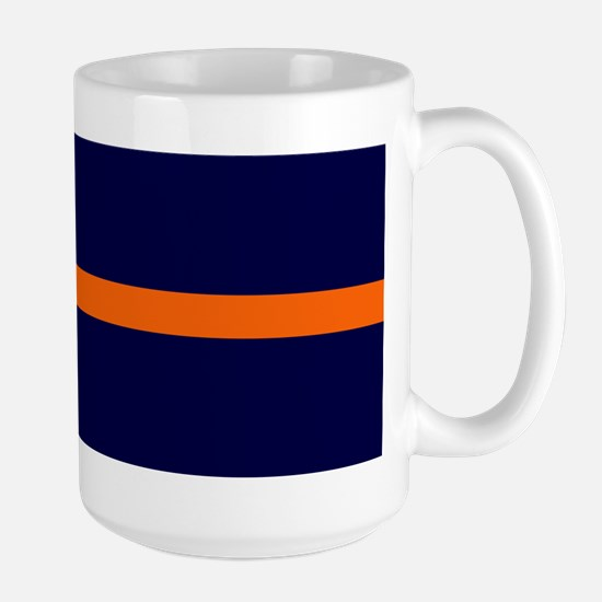 Auburn Thin Orange Line Large Mug