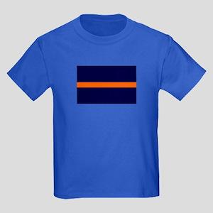 Auburn Thin Orange Line Kids Dark T-Shirt