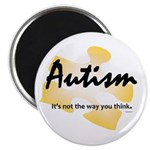 """Autism: Not the Way u think 2.25"""" Magnet 100p"""