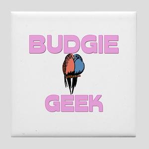 Budgie Geek Tile Coaster
