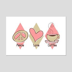 Peace Love Coffee Mini Poster Print