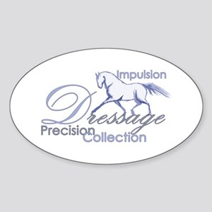 Dressage Horse Oval Sticker