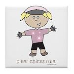 BikerChick: Tile Coaster