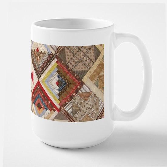 Vintage Underground Rairoad Quilt Large Mug