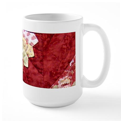 red & yellow fan Large Mug