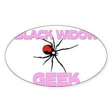 Black Widow Geek Oval Sticker