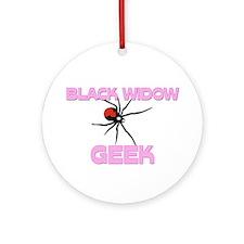 Black Widow Geek Ornament (Round)