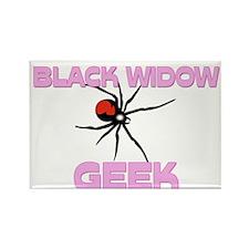 Black Widow Geek Rectangle Magnet