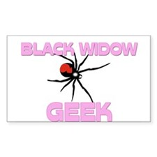 Black Widow Geek Rectangle Sticker
