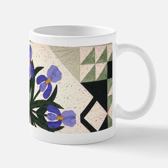 blue & purple iris Mug