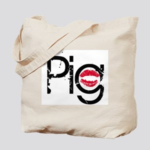 Lipstick on a Pig Tote Bag