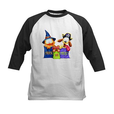 Garfield Trick or Treat Kids Baseball Jersey