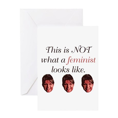 Palin: Not a Feminist Greeting Card