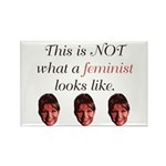 Palin: Not a Feminist Rectangle Magnet