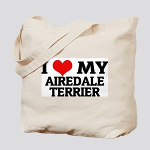I Love My Airedale Terrier Tote Bag