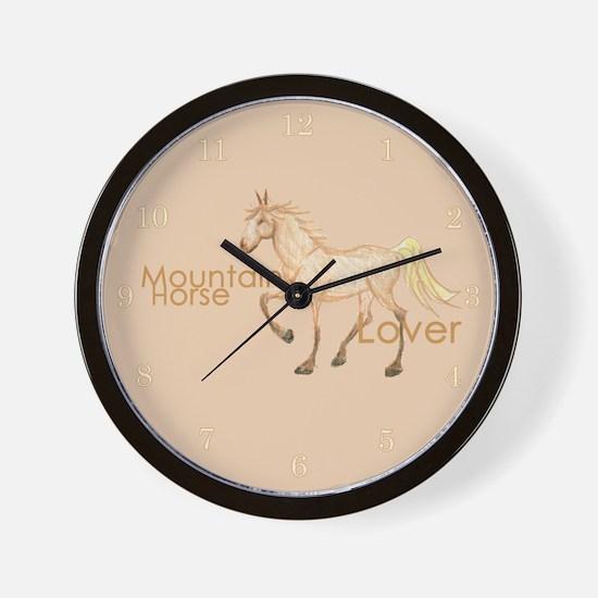 Mountain Horse Wall Clock