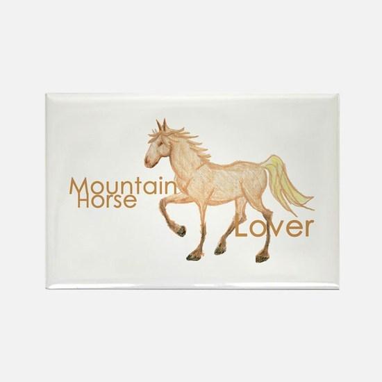 Mountain Horse Rectangle Magnet