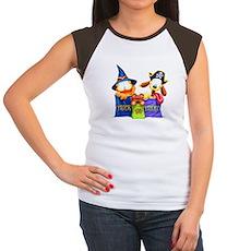 Garfield Trick or Treat Women's Cap Sleeve T-Shirt