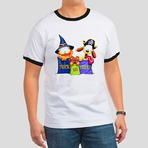 Garfield Trick or Treat Ringer T
