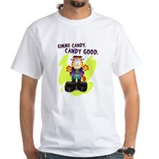 Garfield Gimme Candy White T-Shirt