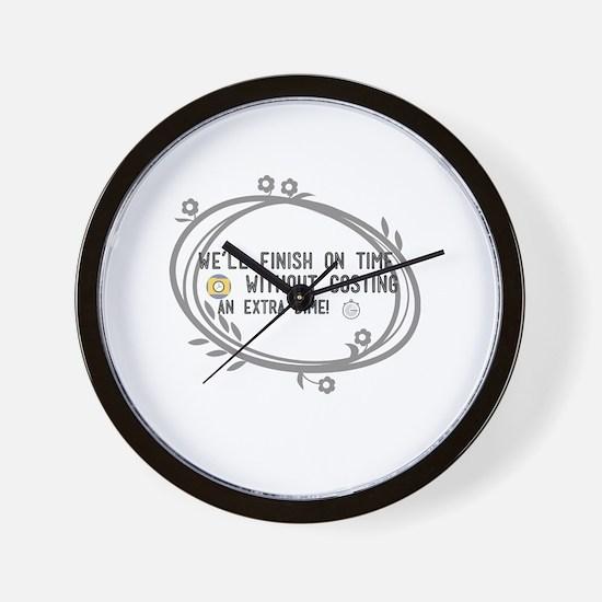 Cute Simple icon Wall Clock