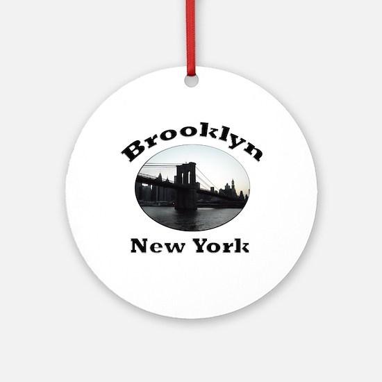 Brooklyn New York Ornament (Round)