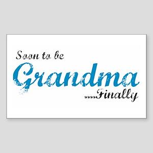 Soon to be Grandma Rectangle Sticker