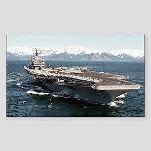 CVN 72 Ship's Image Rectangle Sticker