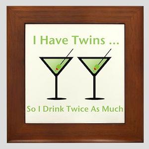 I have twins, so I drink twic Framed Tile