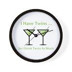 I have twins, so I drink twic Wall Clock