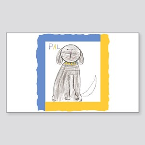 Be a Pal Rescue Dog Rectangle Sticker