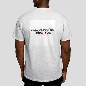 Allah Hates Ash Grey T-Shirt