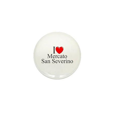 """""""I Love (Heart) Mercato San Severino"""" Mini Button"""